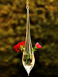 Table Centerpieces Hanging Water Drop Shaped Glass Vase  Table Deocrations