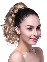 Top Grade Synthetic Short Wavy Blonde Ponytail