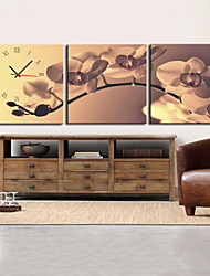 Modern Style Retro Wall Clock in Canvas Set of 3