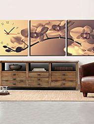 style moderne rétro horloge murale dans la série de 3 toile