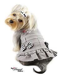 schönen Denim-Kleid mit Bowknot für Hunde (farblich sortiert, XS-L)