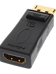 Porta Par Display Macho para HDMI V1.3 Adaptador banhado a ouro para LED Inteligente Feminino HDTV / APPLE TV / Blu-Ray DVD