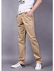 Straight Pants des hommes avec les détails de tuyauterie