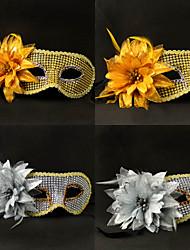 Deluxe Blossom Sequin Mardi Gras Mask