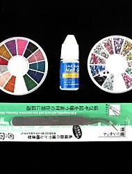 4PCS Decorações Nail Art Kits UV Acrílico
