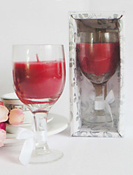 Nizza Wine Glass Design Candle Favor In Geschenk-Box