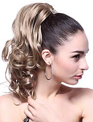 High Quality Synthetic Medium Wavy Light Ash Blonde Ponytail