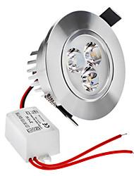 3W Plafonniers 3 LED Haute Puissance 210 lm Blanc Chaud Gradable AC 100-240 V