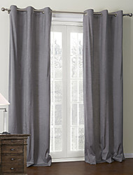 (One Panel)Classic Grey Coating Thermal Curtain