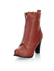 Increíble cuero gruesos del talón de los cargadores del tobillo con cremallera Oficina / fiesta / zapatos de noche (más colores)