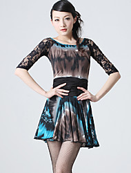 Dancewear Sexy Viscose and Lace Latin Dance Dress for Ladies(More Colors)