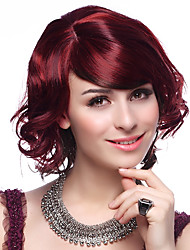 Capless High Quality Synthetic Short Wine Red Hair Wigs