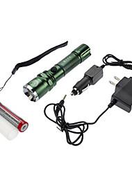 SmallSun Lanternas LED / Lanternas e Luzes de Tenda LED 350 Lumens 4.0 Modo Cree XR-E Q5 18650.0Foco Ajustável / Prova-de-Água /