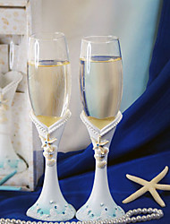 Seaside Jewels Design Wedding Toasting Flutes