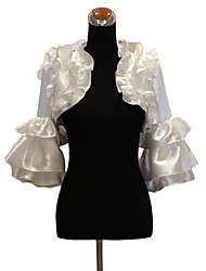 Wedding  Wraps Coats/Jackets 3/4-Length Sleeve Satin White Wedding / Party/Evening / Casual Bell Sleeves Open Front