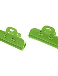 Strong Kitchen Food retenção Frescura Bag Clip (cor aleatória, 2pcs)