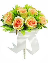 Hübsche runde Form Satin / Ribbon Hochzeit Brautstrauß