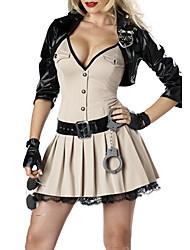 Sexy Cool Black Jacket kaki Costume Policière de robe (3 Pieces)