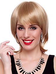 Capless synthétique de haute qualité droites courtes Golden Hair Wigs
