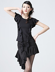 Dancewear Charming Viscose Ruffles Latin Dance Outfits for Ladies(More Colors)