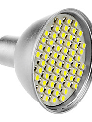 MR16 4W 60x3528SMD 200-240LM 6000-6500K Luz Blanca Natural LED Bombilla (12V)