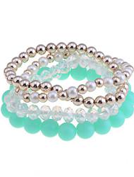 lureme®candy couleur perle perles bracelet relié ensemble (couleurs assorties)
