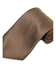 Man's Stylish Oblique Stripes Woven Tie Necktie