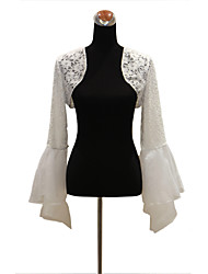 Long Sleeve Lace/Taffeta Evening/Wedding Wrap/Evening Jacket Bolero Shrug