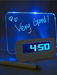 quadro de mensagens de luz azul despertador digital com hub port 4 USB (USB)
