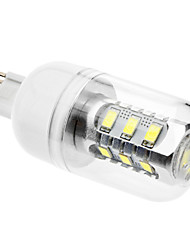 DAIWL G9 7W 15x5630SMD 580-620LM 6000-6500K Natural White Light LED Corn Bulb with Cover(AC 110-130/AC 220-240 V)