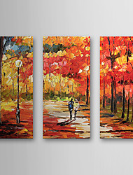 Hand Painted Oil Painting Landscape with Stretched Frame Set of 3 1308-LS0585