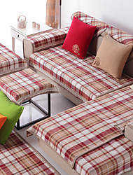 Cotton English Style Check Sofa Cushion 70*180