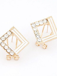 Exquisite Alloy With Rhinestone Square Shaped Women's Earrings (More Colors)