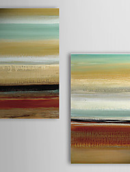Hand Painted Oil Painting Abstract with Stretched Frame Set of 2 1308-AB0752