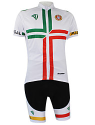 Kooplus2013 Championship Jersey Portugal Polyester&Lycra&Elastic Fabric Cycling Suits(T-Shirt + Bib-Pants)