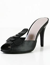 Peep Toe Leatherette Stiletto Heel Sandals Party/Evening Shoes