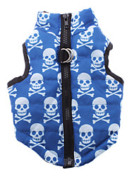 Cool Skull Pattern Cotton-Padded Vest for Pets Dogs (Assorted Sizes)