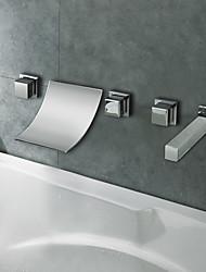 Bathtub Faucet - Contemporary - Waterfall - Brass (Chrome)