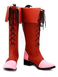 Puella Magi Madoka Magica Madoka Kaname Red Cosplay Boots