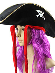 Bateau Pirate Forme d'Or bord noir Halloween Hat