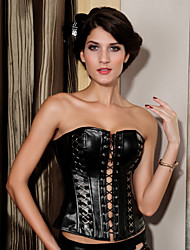 Unique Polyester Strapless Back Lace Up Corsets Shapewear Sexy Lingerie Shaper