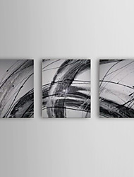 Hand Painted Oil Painting Abstract With Stretched Frame Set of 3 1308-AB0539