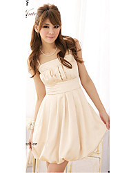 Women's A Line Dress,Solid Strap Above Knee Sleeveless Pink / Beige / Gray All Seasons