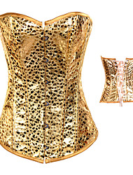 Shiny Golden Leopard Punk Lolita Corset