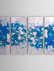 Hand Painted Oil Painting Abstract with Stretched Frame Set of 4 1308-AB0723