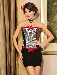 poliéster com arcos vermelhos bordados strapless frente fechamento busk espartilho shapewear shaper lingerie sexy