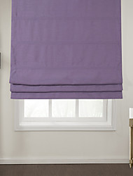 Modern Lavender Solid Roman Shade