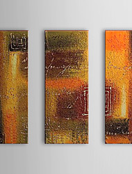 Hand Painted Oil Painting Abstract With Stretched Frame Set of 3 1308-AB0527