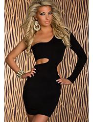 Sexy One-Arm-Minidress mit seitlichen Cutouts Black