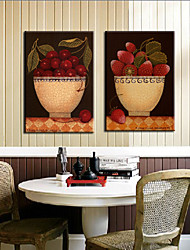 Stretched Canvas Art Food Strawberry Set of 3